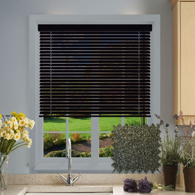 Glitter Black Venetian blind pattern - Just Blinds
